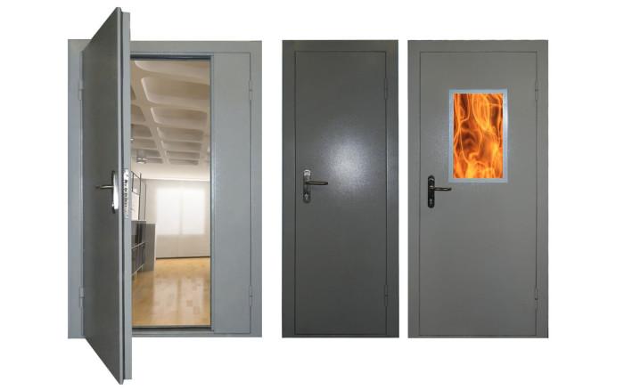 дверь противопожарная металлическая т