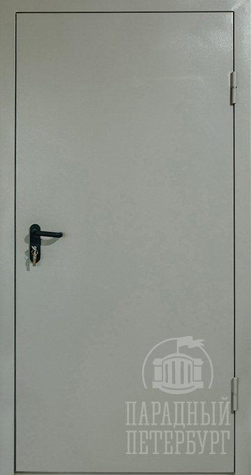 Противопожарная однопольная дымогазонепроницаемая дверь
