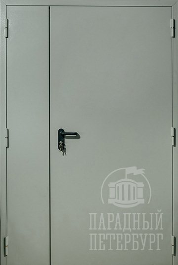 Противопожарная двупольная дымогазонепроницаемая дверь